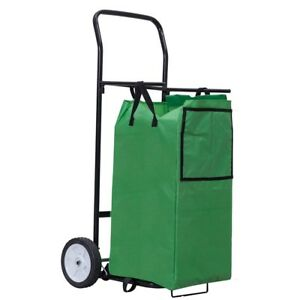 Garden Outdoor Multipurpose Foldable Utility Cart Basket 8 Solid Wheels Us