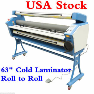 Usa 110v 63 Entry Full auto Heat Assisted Wide Format Cold Laminator Upgraded