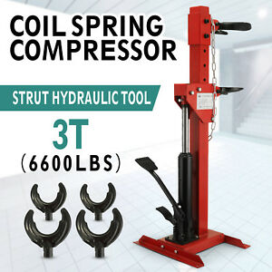 New Coil Spring Compressor 6600 Lbs Auto Strut Hydraulic Tool 3t