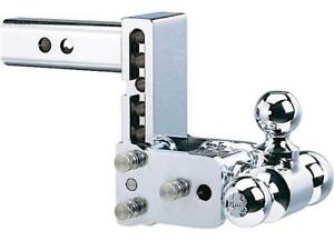 B w Model 6 Tow Stow Chrome Receiver Hitch 2 X 1 7 8 X 2 5 16 Tri Ball