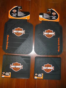 Harley davidson Factory Front And Rear Car Truck Rubber Floor Mats New