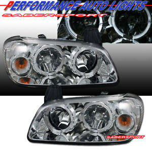 Set Of Pair Halo Projector Headlights For 2000 2001 Nissan Maxima Gxe Gle Se