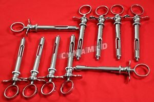 10 German Dental Anesthetic Syringe Self aspirating 1 8cc dental Instruments a