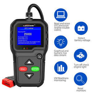 Obd2 Obdii Automative Code Reader Scanner Check Engine Live Data Scan Tool Kw680