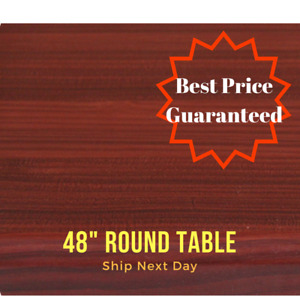 New 48 Round Resin Restaurant Table Top In Mohogany eased Edge With Quick Ship