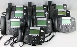 Lot Of 10 Polycom Soundpoint Ip550 Business Phones Factory Reset No Chargers