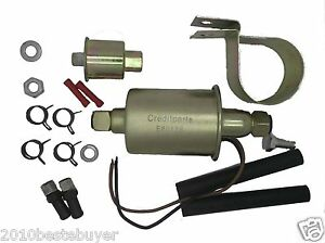 Low Pressure Diesel Inline Electrical Fuel Pumps Install Kits For Buick E8012s