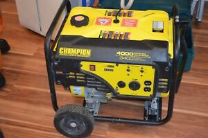 Champion 4000 Watt Gas Portable Gasoline Generator W Wheel Kit Local P u 07755