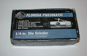 New Florida Pneumatic Fp 753 1 4 inch Air Die Grinder 22 000rpm Free S