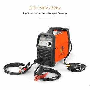 Portable Welding Machine 220 Dc Digital Stick Electrode Holder Earth Clamp Cable