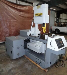 Hyd mech V 18 18 Vertical Semi Automatic Band Saw Miter Hydraulic Feed 2001