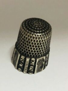 Antique Simons Brothers Sterling Silver Thimble Size 8