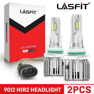 Lasfit 9012 Hir2 Led Headlight Bulb High Low Beam 50w 5000lm 6000k Lcplus Series