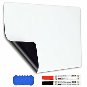 17 x12 Dry Erase Magnetic Refrigerator Flexible Blank White Board Markers Usa