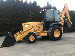 New Holland 555d Backhoe Loader Tractor Cab Diesel 4x4 Back Hoe Ford 555