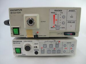 Olympus Otv S5 Camera Processor And Olympus Clv S20 Light Source Xenon Endoscopy