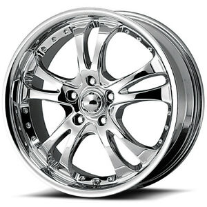 4 New 16 Inch 16x7 Ar683 Casino 5x114 3 5x4 5 42mm Chrome Wheels Rims