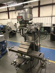 Bridgeport Series 1 2hp Vertical Milling Machine X Power Feed And Dro Mill
