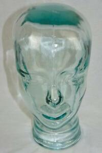 Vintage 11 Green Tint Glass Store Display Mannequin Head