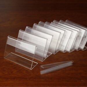 Melleco 30pcs Sign Display Holder Price Name Card Tag Label Counter Top Stand X