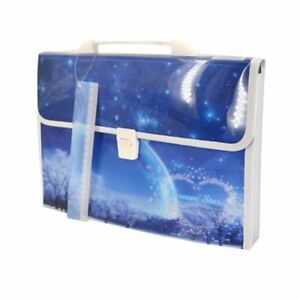 Accordion Expanding File Folder With Handle A4 Portable Document Paper Organizer