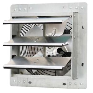 Shutter Exhaust Fan Wall Mounted Variable Speed Commercial Restaurant Factory