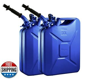Wavian 5 Gallon Gascan Color Blue Set Of 2 Including Spout Nato Spec Brand New