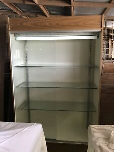 Large Tall Store Retail Commercial Home Glass Mirror Drawers Display Cabinet