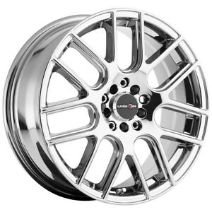 4 New 16 Inch Vision 426 Cross 16x7 5x114 3 5x4 5 38mm Chrome Wheels Rims