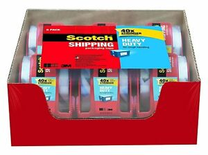 Scotch Heavy Duty Shipping Packaging Tape 1 88 Inches X 800 Inches 12 Rolls