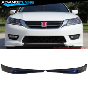 Fits 13 15 Accord Hfp 2pc Front Bumper Lip Painted b588p Obsidian Blue Pearl