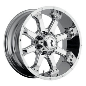 4 New 16 Inch Raceline 991c Assault 16x8 8x170 0mm Chrome Wheels Rims