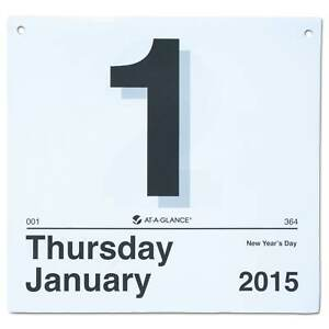 At a glance today Is Daily Wall Calendar Refill 8 1 2 X 8 White 2018