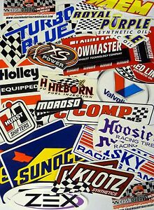 Racing Decals Sticker Lot Set 26 In Pairs Grab Bag Race Cars Go Karts Toolboxes