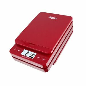 Saga 66 Lb Red Digital Postal Shipping Scale By Saga X 0 1 Oz Weight Usps Pos
