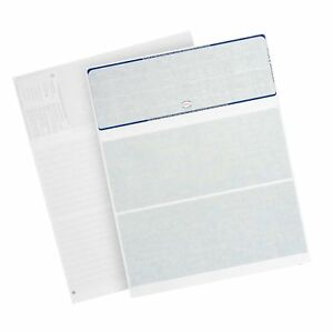 500 Blank Check Stock Designed For Secure Computer Printed Checks With Quick