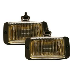 Pilot Navigator Universal 3 X 5 Amber Lens Black Housing Fog Lights Lamps Kit