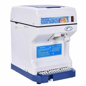 Electric Ice Shaver Machine Ice Crusher Snow Cone Maker 264lbs 250w