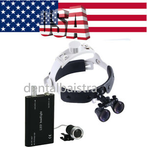 Usps Portable Dental Led Headlight 3 5x r Headband Surgical Binocular Louper