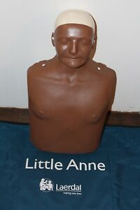 Laerdal Little Anne Cpr Adult Male African American Manikin W Carrying Bag