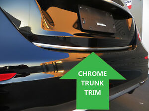 Chrome Trunk Trim Tailgate Molding Kit For Niss Models 2013 2018