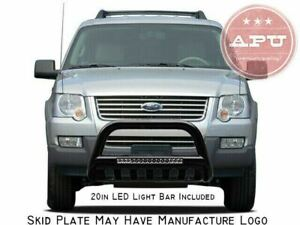 Apu 2006 2010 Ford Explorer Black Led Bull Bar Bumper Brush Guard Protector