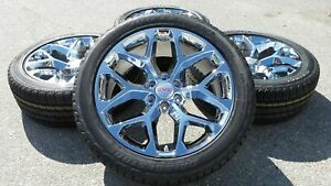 22 Gmc Sierra Chrome Ck156 Chevy Silverado Cadillac Escalade Wheels Rims Tires