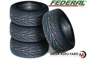 4 X New Federal 595rs r 215 45zr17 87w Ultra High Performance Tires