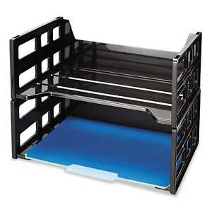 Officemate Recycled High Rise Desk Tray 13 1 4 X 9 X 10 1 4 Letter Black box Of