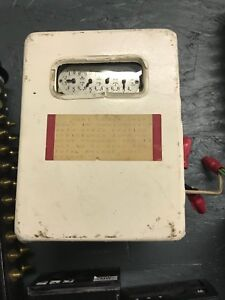 Antique Vintage Westinghouse Polyphase Single Phase Meter