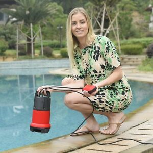 1 2hp 400w Red Electric Submersible Clean Dirty Pond Fountain Water Lkr8