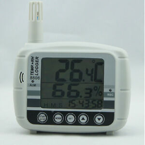 Temperature Humidity Dew Point Meter Tester Data Logger 16k Memory Usb 8808