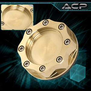 24k Gold Finish Plated Engine Oil Filler Fuel Cap Tank Cover Aluminum For Mazda
