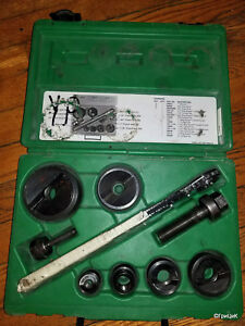 Greenlee 7238sb Slug Buster Punch Set W Ratcheting Wrench 1 2 Thru 2 Conduit